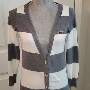 Hollister Striped Button Up Sweater